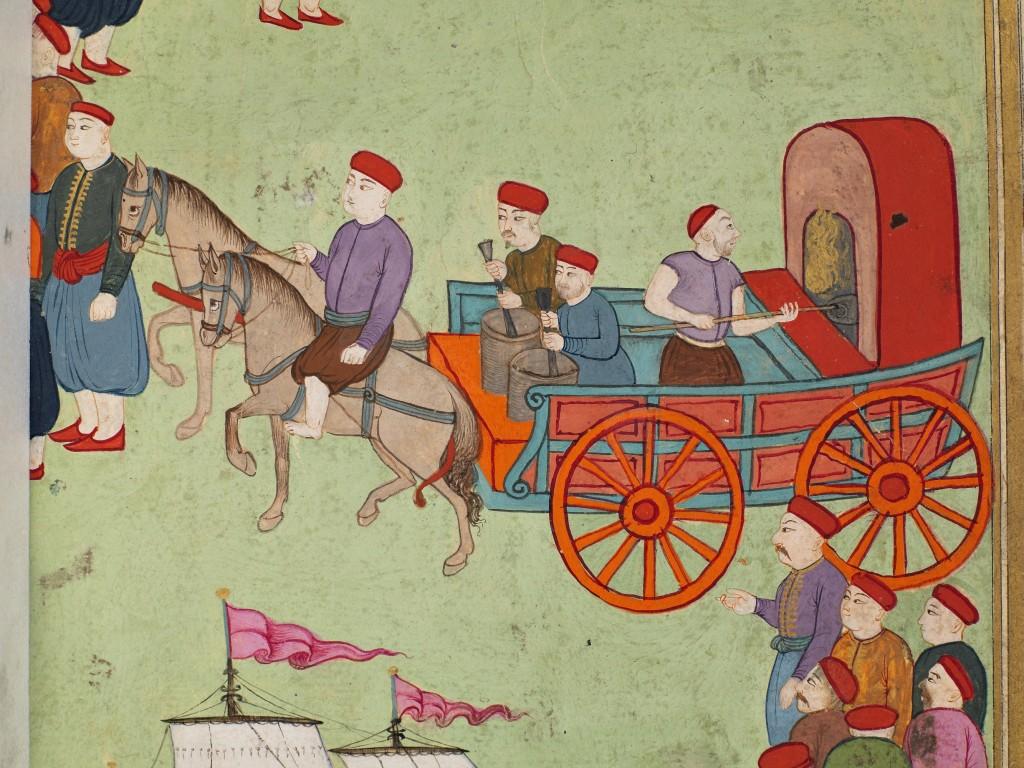 1-Sûr-ı-Hümâyûnda-Kahvecilerin-Geçişi-Vehbî-Surnâme-i-Vehbî-Nakkaş-İbrahim-Osmanlı-18yy-Kağıt-altın-suluboya-Topkapı-Sarayı-Müzesi